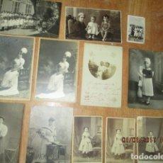 Fotografía antigua: LOTE JUEGOS FLORALES VALENCIA 1915 DAMA CON MEDALLA DE LAS FIESTAS Y COLEGIO NIÑAS. Lote 174549987