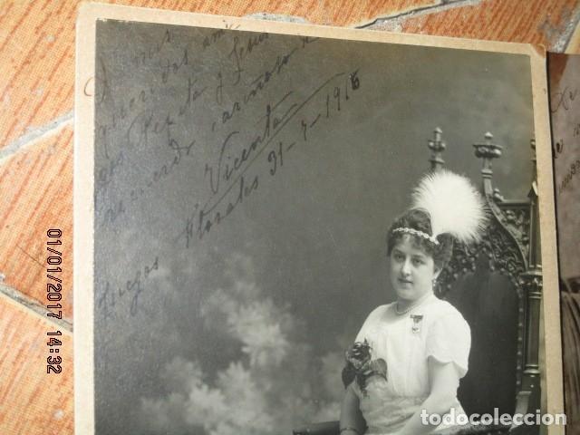 Fotografía antigua: LOTE JUEGOS FLORALES VALENCIA 1915 DAMA CON MEDALLA DE LAS FIESTAS Y COLEGIO NIÑAS - Foto 17 - 174549987
