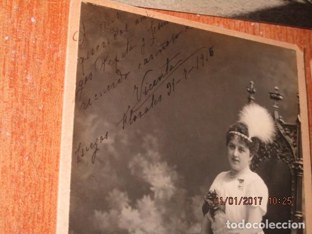 Fotografía antigua: LOTE JUEGOS FLORALES VALENCIA 1915 DAMA CON MEDALLA DE LAS FIESTAS Y COLEGIO NIÑAS - Foto 21 - 174549987
