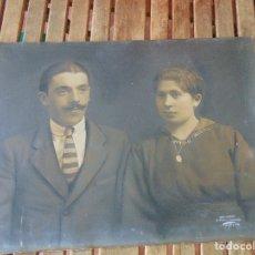 Fotografía antigua: FOTO GRAN TAMAÑO ILUMINADA FIRMA ORIGINAL FOTOGRAFO PHOTO RAPIDE, VALLET LA MONTANO OVIEDO 1917. Lote 174973478
