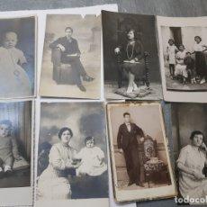 Fotografía antigua: FOTOGRAFÍAS POSTALES ALCOY AÑOS 20-30 LOTE 8 MUY CURIOSAS . Lote 175051913