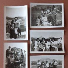 Fotografía antigua: LOTE 5 FOTOGRAFÍAS FAMILIA. ARTURO Y LUCINDA. PUERTO SOMIEDO. LA MAGDALENA. BARRIOS DE LUNA. 1967.. Lote 175285864