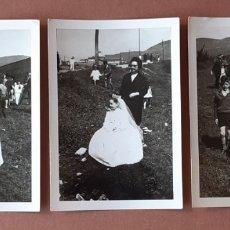 Fotografía antigua: LOTE 3 FOTOGRAFÍAS NIÑA PRIMERA COMUNIÓN. LUCINDA. OVIEDO. ASTURIAS. 1967.. Lote 175288543