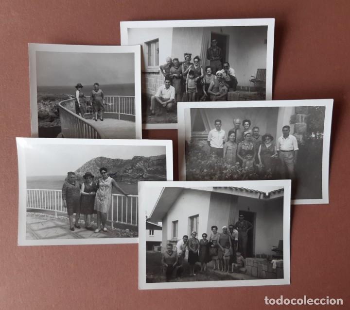 LOTE 5 FOTOGRAFÍAS FAMILIA. CIUDAD RESIDENCIAL DE PERLORA. CANDÁS. ASTURIAS. AÑOS 60. (Fotografía - Artística)