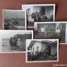 Fotografía antigua: LOTE 5 FOTOGRAFÍAS FAMILIA. CIUDAD RESIDENCIAL DE PERLORA. CANDÁS. ASTURIAS. AÑOS 60.. Lote 175317702