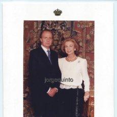 Fotografía antigua: RETRATO OFICIAL. FIRMADO. SS.MM. D.JUAN CARLOS Y DOÑA SOFÍA, REYES DE ESPAÑA. ALBERTO SCHOMMER, 1995. Lote 175410714