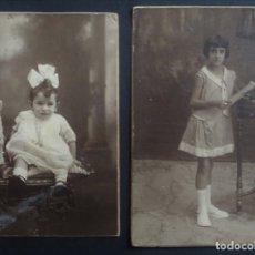 Fotografía antigua: 2 ANTIGUAS FOTOGRAFÍAS DE NIÑOS . Lote 175455685