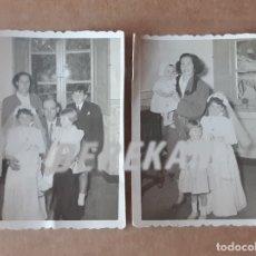 Fotografía antigua: LOTE 2 FOTOGRAFÍAS FAMILIA. COMUNIÓN. FOTO LU-BER NAVIA. 1954. TROQUELADAS. DEDICADAS.. Lote 175631690