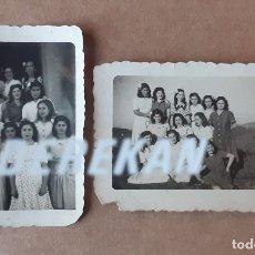 Fotografía antigua: LOTE 2 ANTIGUAS FOTOGRAFÍAS GRUPO DE AMIGAS. ASTURIAS. AÑOS 40. TROQUELADAS.. Lote 175632953