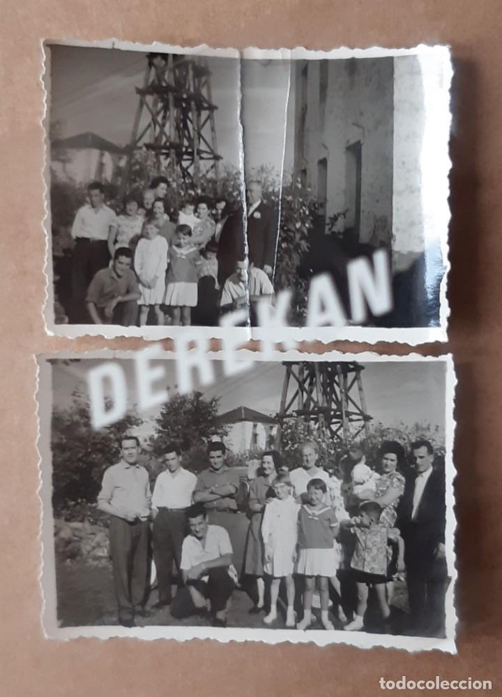 LOTE 2 ANTIGUAS FOTOGRAFÍAS GRUPO FAMILIA. ASTURIAS. AÑOS 50 Ó 60. TROQUELADAS. (Fotografía - Artística)