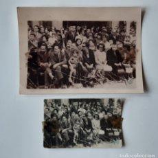 Fotografía antigua: ANTIGUA COPIA Y RECORTE DE FOTOGRAFÍA DE PRENSA. GRUPO EN LA CALLE. ASTURIAS. AÑOS 50 Ó 60.. Lote 175686394