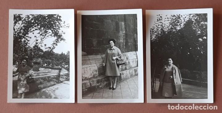 LOTE 3 FOTOGRAFÍAS MUJER. PARQUE. ASTURIAS. MAYO 1967. (Fotografía - Artística)