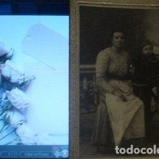 Fotografía antigua: RETRATO DE SEÑORA Y NIÑO A. GARCIA GERONA - PORTAL DEL COL·LECCIONISTA *****. Lote 176098047