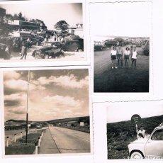 Fotografía antigua: CONJUNTO DE 12 FOTOS DE COCHES ANTIGUOS. Lote 176142992