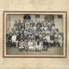 Fotografía antigua: == RR22 - FOTOGRAFIA - GRUPO DE NIÑAS CON SU MAESTRA. Lote 176267757