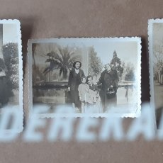 Fotografía antigua: LOTE 3 ANTIGUAS FOTOGRAFÍAS GRUPO FAMILIA. ASTURIAS. 1943. TROQUELADAS.. Lote 176354675