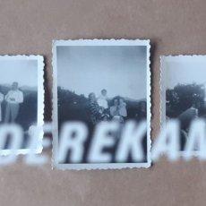Fotografía antigua: LOTE 3 ANTIGUAS FOTOGRAFÍAS GRUPO FAMILIA. ASTURIAS. 1951. TROQUELADAS.. Lote 176361142