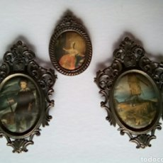 Fotografía antigua: JUEGO DE TRES ADORNOS. Lote 176486088