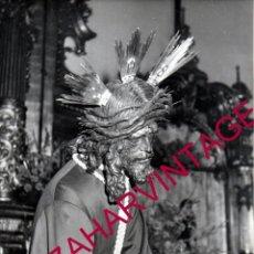 Fotografía antigua: SEMANA SANTA SEVILLA, ESPECTACULAR FOTOGRAFIA NTRO.PADRE JESUS DEL GRAN PODER, 18X24 CMS. Lote 177190559