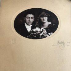 Fotografía antigua: FOTOGRAFÍA 1926 PAREJA DE NOVIOS (HUNGRÍA). Lote 177588103