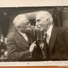 Fotografía antigua: FOTO ALEJANDRO MERLETTI FRANCESC MACIÀ CON NICETO ALCALÁ ZAMORA EN 1931 B-0033. Lote 177605077