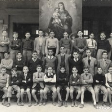 Fotografía antigua: GRUPO DE ESCOLARES DEL COLEGIO DEL CORAZÓN DE MARÍA, GRADO 4º CURSO 1947-48 DE JÁTIVA (VALENCIA). Lote 177674765