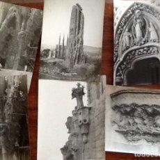 Fotografía antigua: OBRAS SAGRADA FAMILIA DE BARCELONA. LOTE DE 6 FOTOS . AÑOS 20. ENVIO CERTIFICADO INCLUIDO .. Lote 177728200
