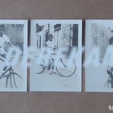 Fotografía antigua: LOTE 3 ANTIGUAS FOTOGRAFÍAS NIÑO CON BICICLETA. AÑOS 30 Ó 40. VALENCIA? ALICANTE?. Lote 177824960