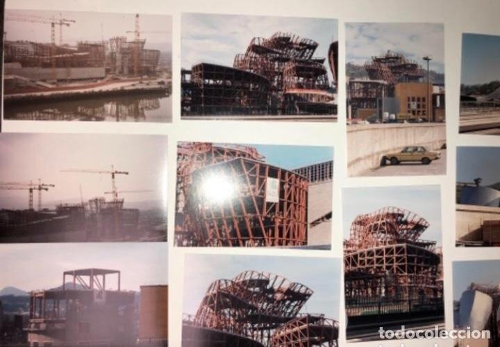 Fotografía antigua: 42 FOTOGRAFÍAS A COLOR DE LA CONSTRUCCIÓN DEL MUSEO GUGGENHEIM BILBAO. 10,50 x 15,50 cms. - Foto 2 - 177848108