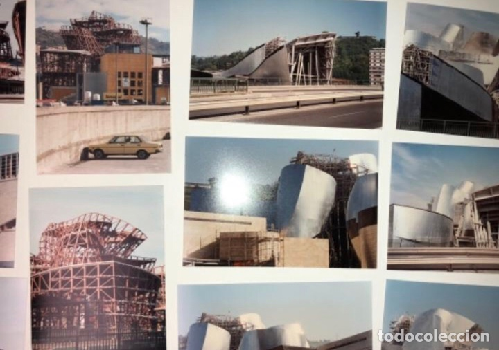 Fotografía antigua: 42 FOTOGRAFÍAS A COLOR DE LA CONSTRUCCIÓN DEL MUSEO GUGGENHEIM BILBAO. 10,50 x 15,50 cms. - Foto 3 - 177848108