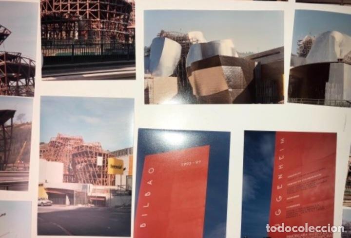 Fotografía antigua: 42 FOTOGRAFÍAS A COLOR DE LA CONSTRUCCIÓN DEL MUSEO GUGGENHEIM BILBAO. 10,50 x 15,50 cms. - Foto 4 - 177848108