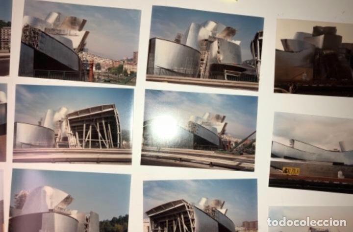 Fotografía antigua: 42 FOTOGRAFÍAS A COLOR DE LA CONSTRUCCIÓN DEL MUSEO GUGGENHEIM BILBAO. 10,50 x 15,50 cms. - Foto 5 - 177848108
