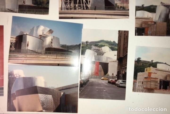 Fotografía antigua: 42 FOTOGRAFÍAS A COLOR DE LA CONSTRUCCIÓN DEL MUSEO GUGGENHEIM BILBAO. 10,50 x 15,50 cms. - Foto 6 - 177848108