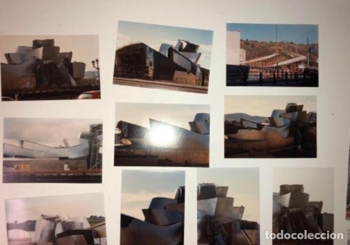 Fotografía antigua: 42 FOTOGRAFÍAS A COLOR DE LA CONSTRUCCIÓN DEL MUSEO GUGGENHEIM BILBAO. 10,50 x 15,50 cms. - Foto 7 - 177848108