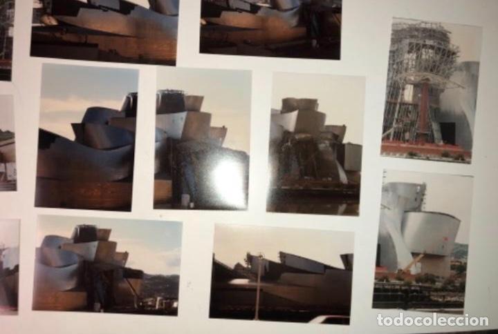 Fotografía antigua: 42 FOTOGRAFÍAS A COLOR DE LA CONSTRUCCIÓN DEL MUSEO GUGGENHEIM BILBAO. 10,50 x 15,50 cms. - Foto 9 - 177848108