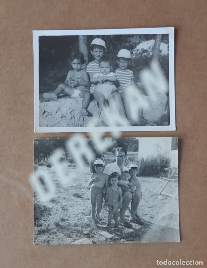 LOTE 2 FOTOGRAFÍAS NIÑOS. CHIRRICHANA. VALENCIA. 1964. (Fotografía - Artística)