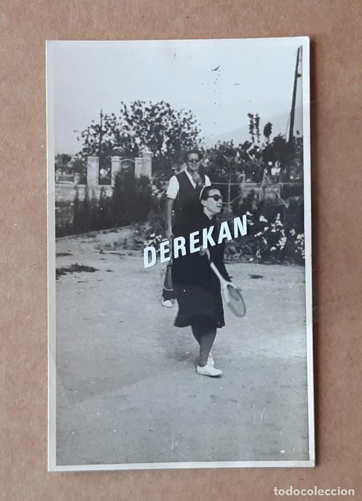 ANTIGUA FOTOGRAFÍA TARJETA POSTAL CAMPO OLIVAR. TENIS. LABORATORIO ESCUDER. VALENCIA. 1945. (Fotografía - Artística)