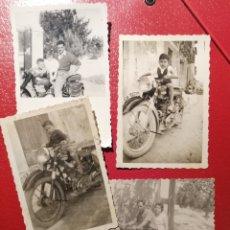 Fotografía antigua: ALICANTE MOTOS FOTOS LOTE 4 AÑOS 50.60. Lote 178262638