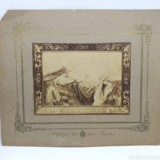 Fotografía antigua: RARISIMA FOTO OBRA DONDE SALE VÍCTOR BALAGUER POST MORTEM. Lote 178268133