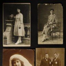 Fotografía antigua: COLECCIÓN DE 4 ANTIGUAS FOTOGRAFÍAS REALIZADAS EN BARCELONA. Lote 178329262