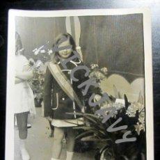 Fotografía antigua: FOTOGRAFIA REINA INFANTIL 1975 FIESTAS. Lote 178358176