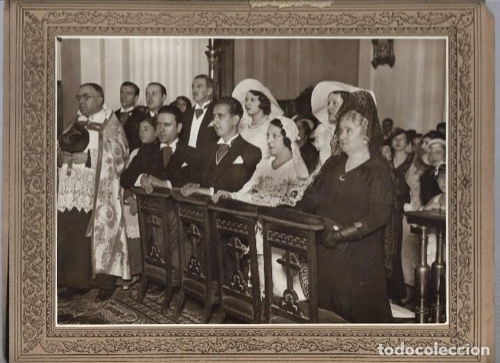 J181- -EXTRAORDINARIA FOTOGRAFIA ANTIGUA DE UNA BODA FOTO -CARTAGENA -MONTERA,44 - MADRID (Fotografía - Artística)