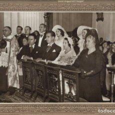 Fotografía antigua: J181- -EXTRAORDINARIA FOTOGRAFIA ANTIGUA DE UNA BODA FOTO -CARTAGENA -MONTERA,44 - MADRID. Lote 178432917