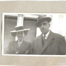 Fotografía antigua: J181- -EXTRAORDINARIA FOTOGRAFIA ANTIGUA DE UN MATRIMONIO -FOTO- SALVADOR -S.RAIMUNDO,21-MADRID. Lote 178437803