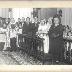 Fotografía antigua: J181- -EXTRAORDINARIA FOTOGRAFIA ANTIGUA DE UN BODA -FOTO- AMBITE -SALITRE - MADRID. Lote 178443203