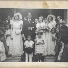 Fotografía antigua: J181- -EXTRAORDINARIA FOTOGRAFIA ANTIGUA DE UNA BODA -FOTO- AMBITE - SALITRE -MADRID. Lote 178443706