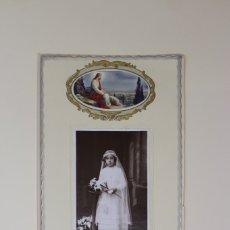 Fotografía antigua: FOTOGRAFIA ANTIGUA - DE NIÑA 1ª COMUNION - FOTO - BOSCH GRANOLLERS - SANT ROC,2-PRINCIPIO S XX. Lote 178569400