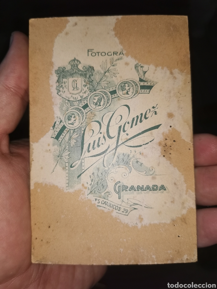 Fotografía antigua: Preciosa foto enmarcada. Señora Granada. Principios siglo XX - Foto 4 - 178645880