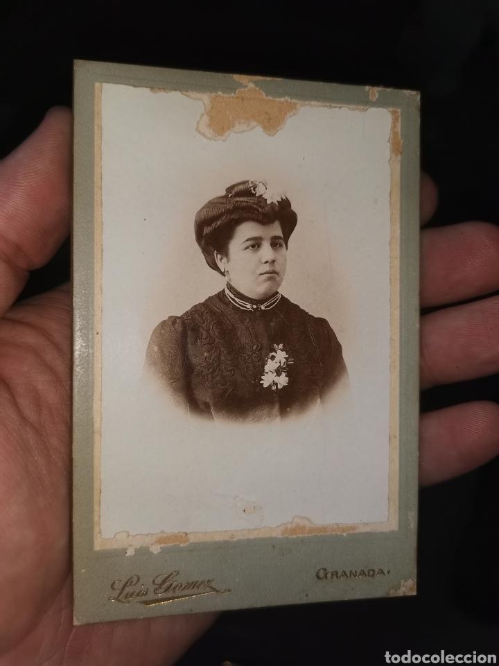 Fotografía antigua: Preciosa foto enmarcada. Señora Granada. Principios siglo XX - Foto 5 - 178645880