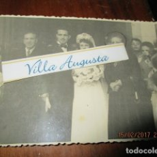 Fotografía antigua: FOTO ANTIGUA MIRANDA DEL EBRO BODA FAMILIA CUÑO EN REVERSO ILEGIBLE. Lote 178886792